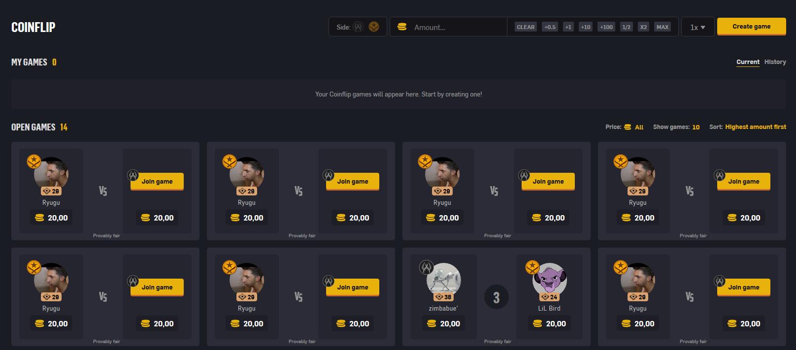 CSGO Coinflip on Gambling Site CSGOEmpire
